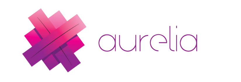 Logotipo Aurelia, em rosa